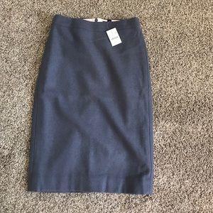 Jcrew slate blue pencil skirt